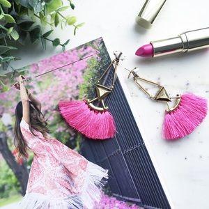 "🆑 ""Catalina"" Earrings || Hot Pink Tassel"